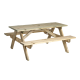 6ft Heavy Duty Pinewood Picnic Table