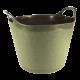 15L Round Flexi-Tub Garden Green