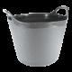 15L Round Flexi-Tub Graphite Grey